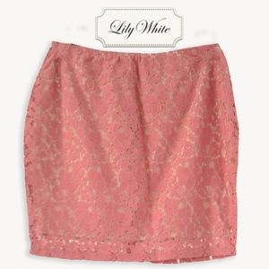 ⟫NWT⟪ Lily White Blush Lace Skirt (sm)